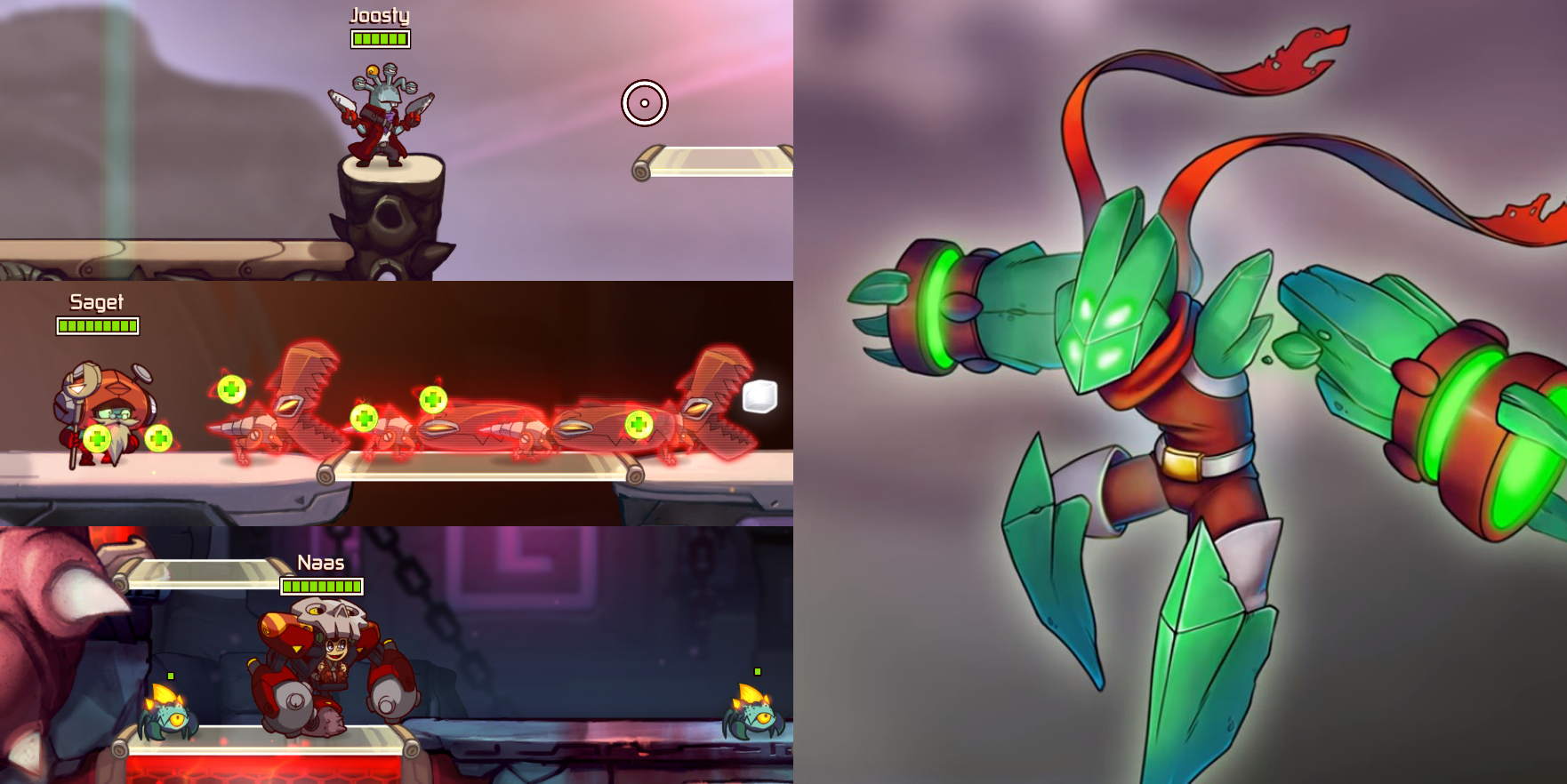 Personajes que llegarán con Awesomenauts Overdrive