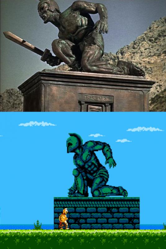 Si sois fans de Harryhausen ya sabéis lo que va a pasar con esta estatua