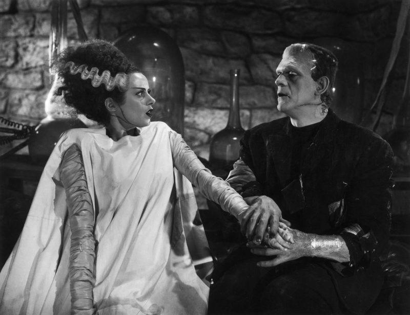 La novia del monstruo en una de sus pocas escenas