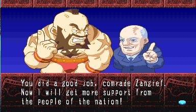 Pocket Fighter Zangief story