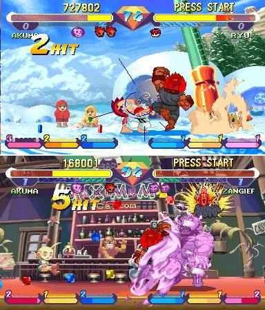 Comparativa entre el mismo ataque en nivel 1 (arriba) y a nivel 3 (abajo)