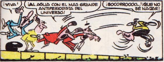 """Tribulete, el redactor más odiado de """"El Chafardero""""."""
