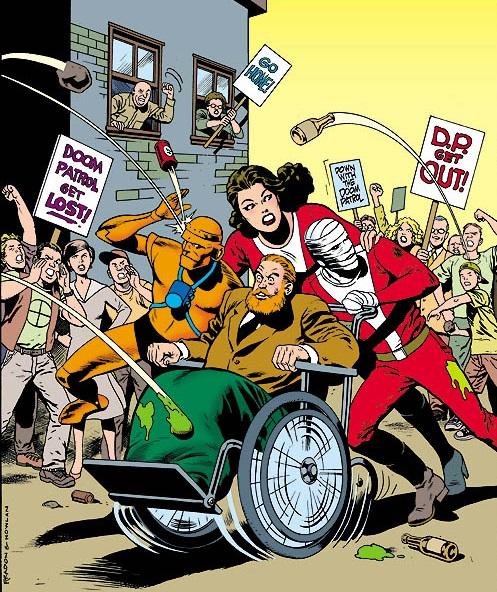 Los miembros fundadores de la Doom Patrol abucheados