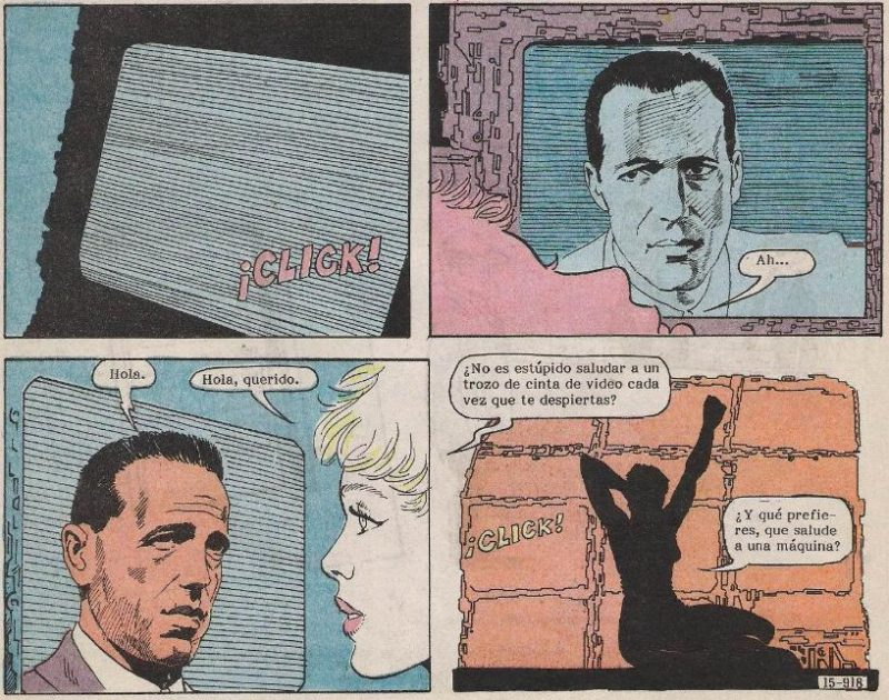 Gwendolyn siente una excesiva fijación por Humphrey Bogart.