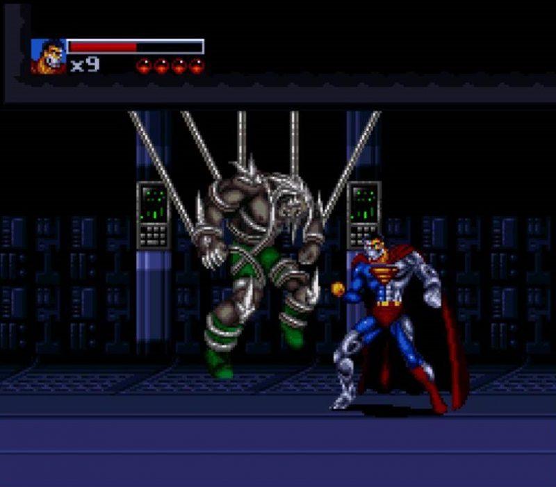 Cyborg Superman a punto de deshacerse de Doomsday