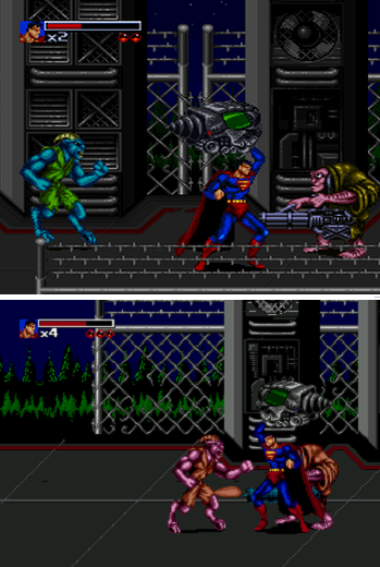 Death and Return Superman SNES-MEGA