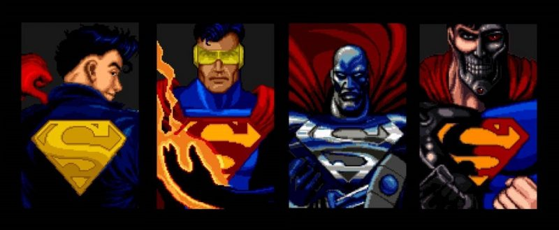 Superboy, Eradicator, Steel, Cyborg Superman