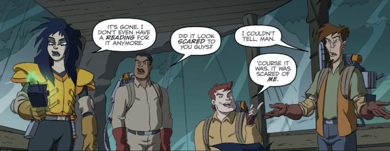 Cameo de los Extreme Ghostbusters en los cómics