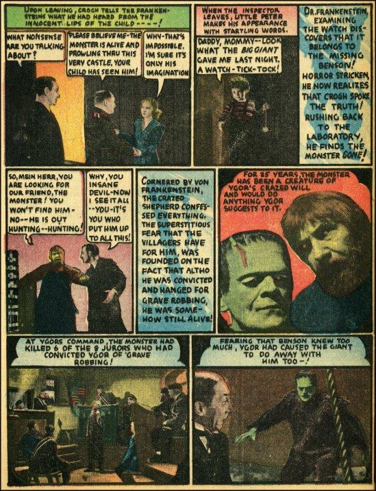 Cómic de El hijo de Frankenstein