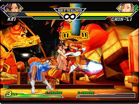 Chun-Li contra Mai, duelo de divas