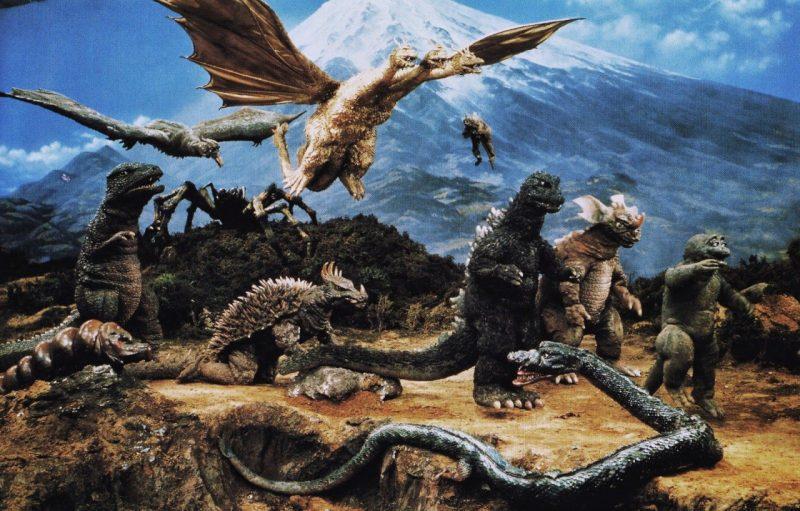 Festival de monstruos en Destroy All Monsters