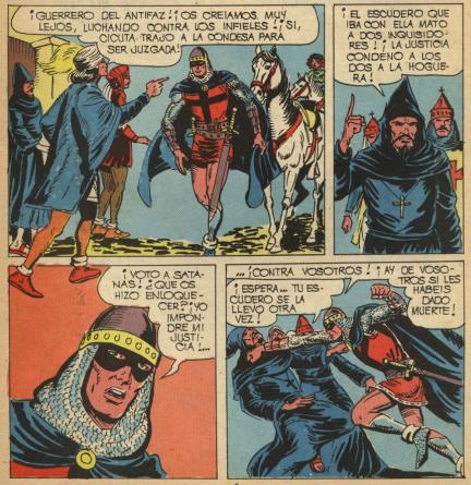 En las 'Nuevas Aventuras' se atreve a golpear a un religioso.