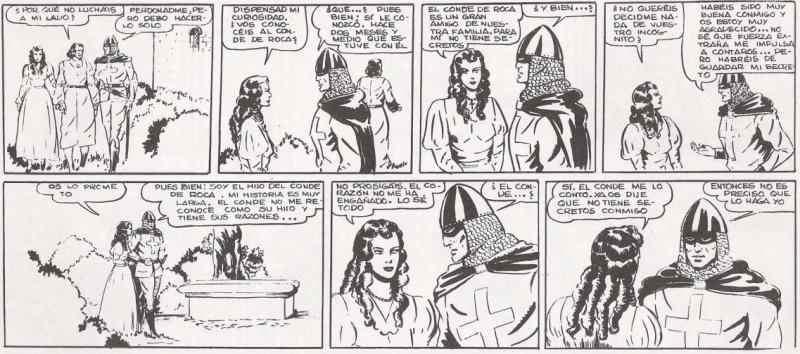 Primer encuentro con Ana María, quien cree la historia del guerrero.