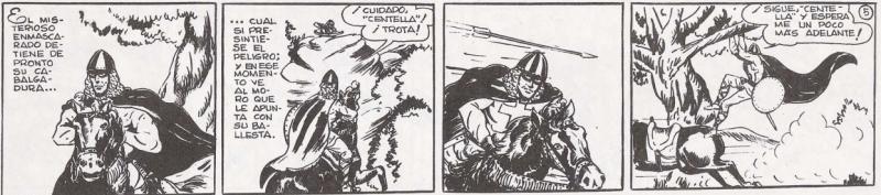 Primera aparición del Guerrero del Antifaz.