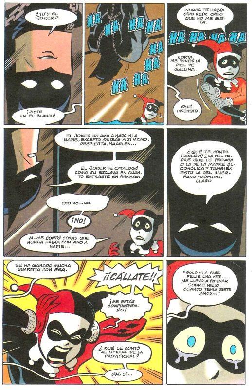 Batman tratando de ayudar a Harley