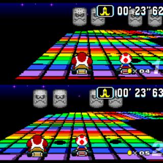 La primera (y letal) versión de Rainbow Road