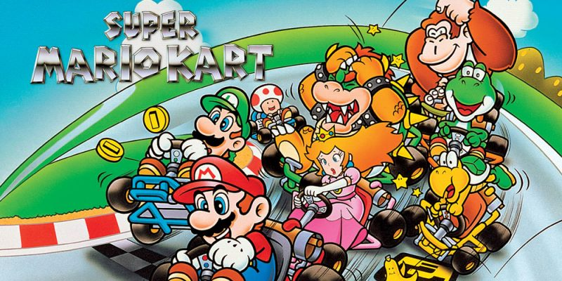 Super Mario Kart banner titulo