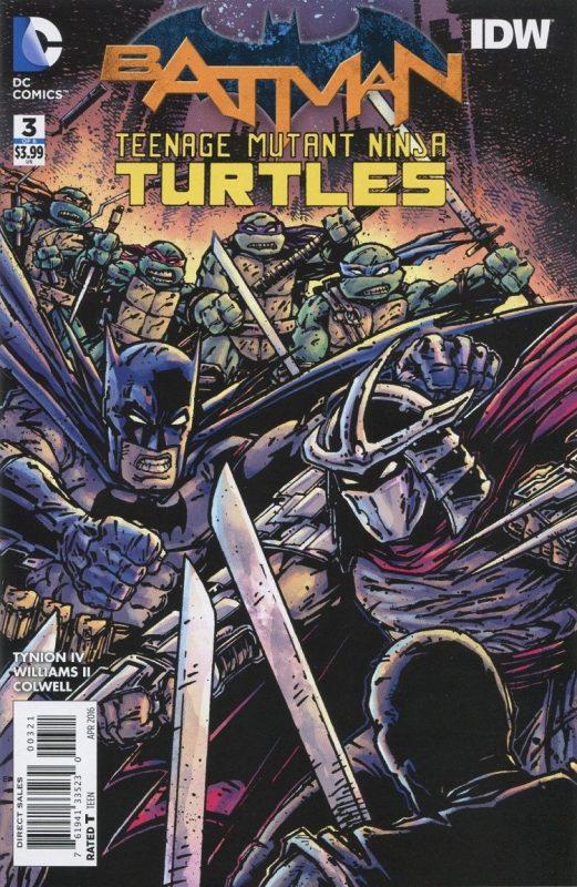 Portada alternativa dibujada por Kevin Eastman con el estilo de dibujo de las Tortugas Ninjas originales