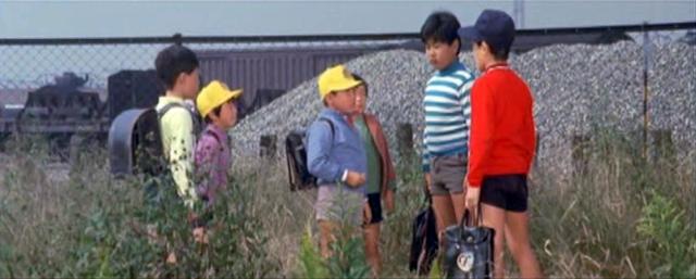 Ichiro molestado por los otros niños