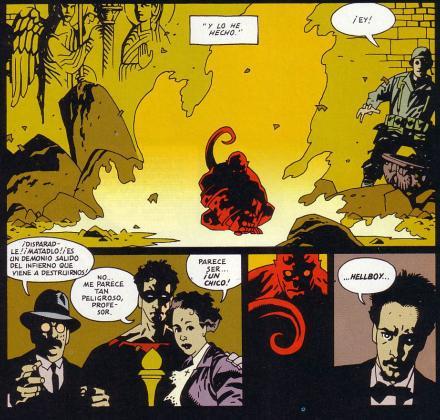 """El """"nacimiento"""" de Hellboy."""