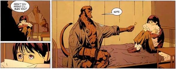 Hellboy fue un importante apoyo para Liz desde que era niña.