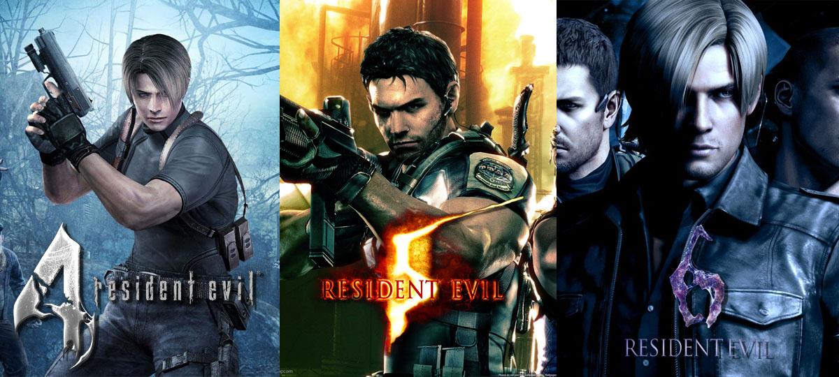 Resident Evil 4, 5 y 6