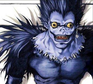 Ryuk en el manga.
