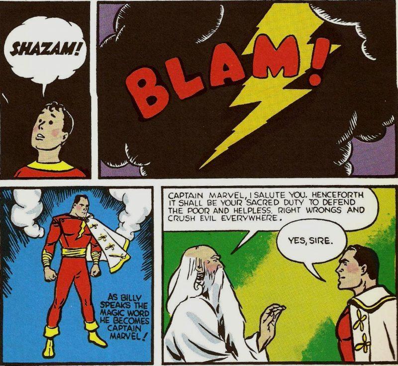 Billy Batson obteniendo los poderes mágicos