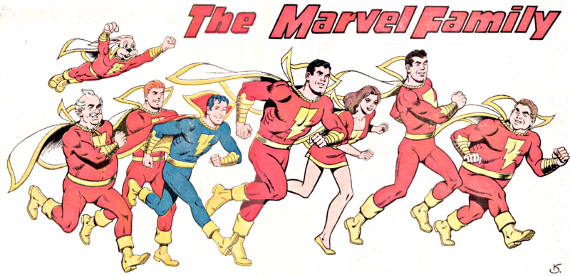 La Marvel Family al completo