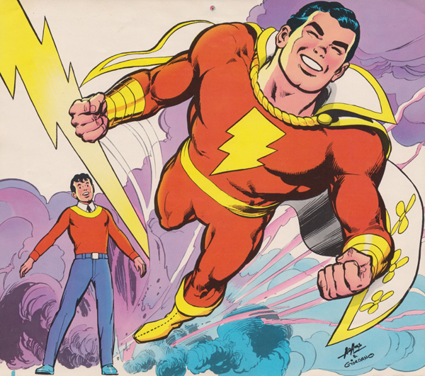 Billy Batson convirtiéndose en Shazam