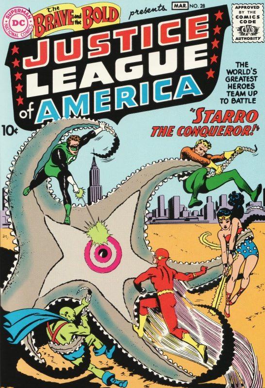 Primera aparición de Starro y la JLA
