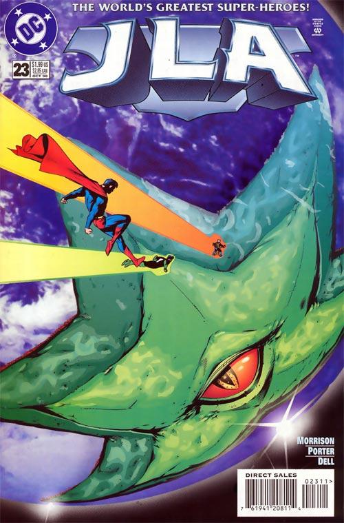 Nueva versión de Starro en la JLA de los años 90