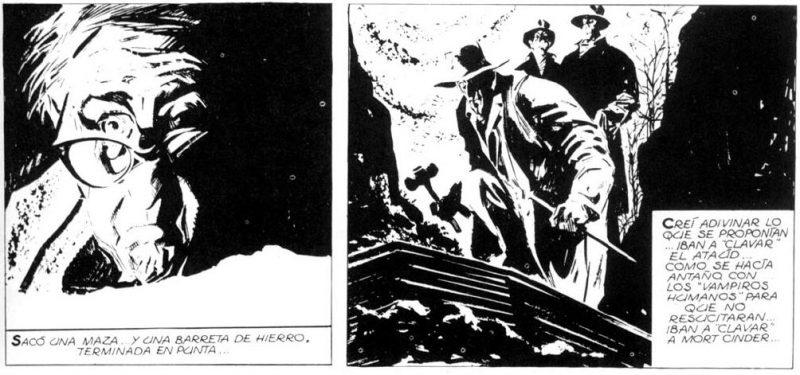 """Ezra presenció cómo los """"Ojos de Plomo"""" se disponían a ensartar a Mort Cinder."""