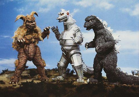 King Caesar, MechaGodzilla y Godzilla