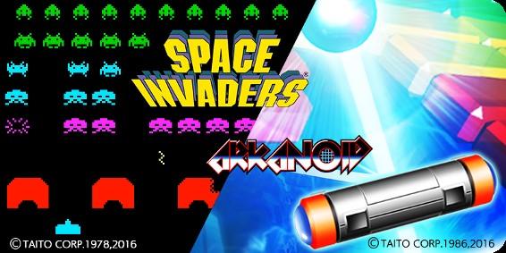 Space Invaders y Arkanoid