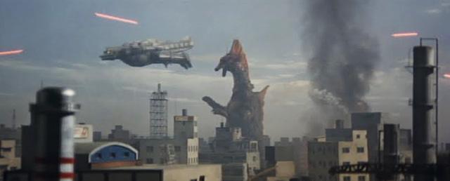 MechaGodzilla y Titanosaurus en acción