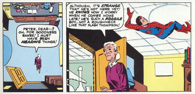 Peter ingeniándoselas para que May no le descubra