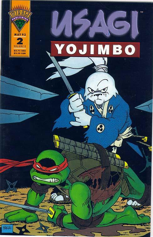 Portada del crossover entre Usagi y las Tortugas Ninja