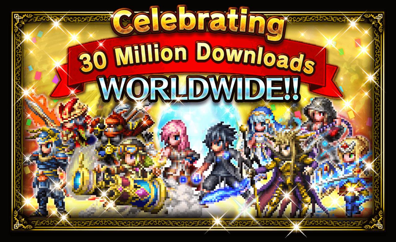 Final Fantasy: Brave Exvius - 30 Million Downloads Banner