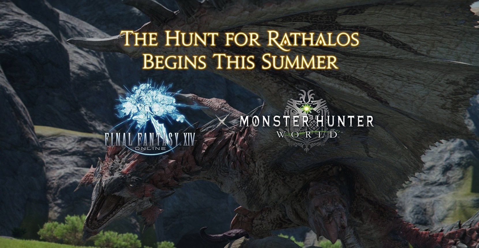 Final Fantasy XIV Online - Monster Hunter World - Rathalos