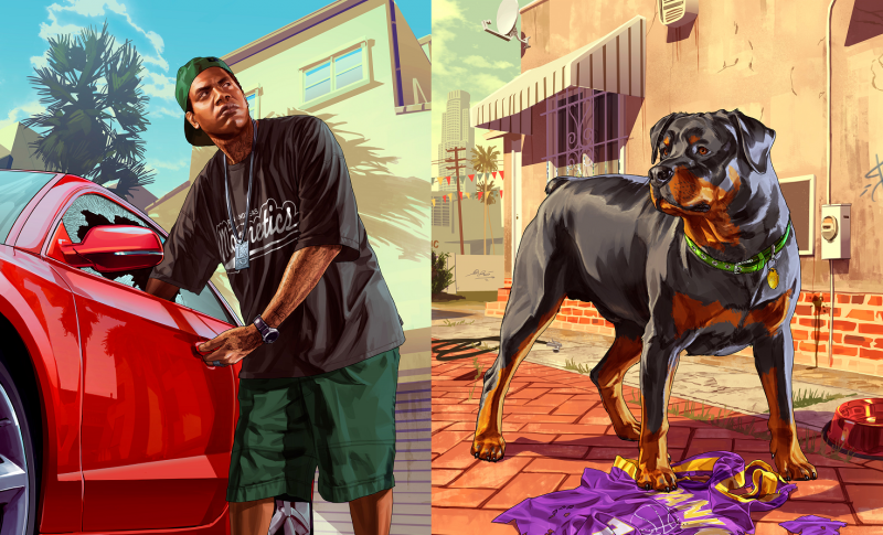 Grand Theft Auto V - Lamar y Chop